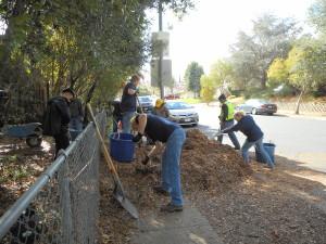 transporting mulch